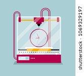 3d printing clock model ...   Shutterstock .eps vector #1069329197