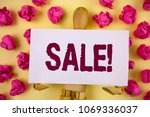 text sign showing sale... | Shutterstock . vector #1069336037