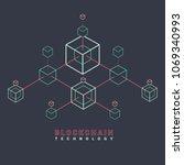 blockchain vector concept... | Shutterstock .eps vector #1069340993