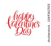 happy valentines day. beautiful ... | Shutterstock .eps vector #1069362503