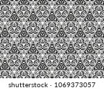 ornament with elements of black ... | Shutterstock . vector #1069373057