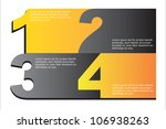 gray and yellow numbers... | Shutterstock .eps vector #106938263