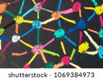 social network or decentralize... | Shutterstock . vector #1069384973