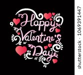 happy valentine day  hand... | Shutterstock .eps vector #1069391447
