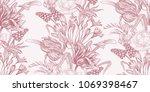 spring flowers. flower vintage... | Shutterstock .eps vector #1069398467