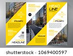 business brochure. flyer design.... | Shutterstock .eps vector #1069400597