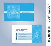 blue and white modern business... | Shutterstock .eps vector #1069411007