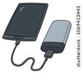 vector set of smartphone... | Shutterstock .eps vector #1069413443