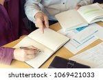 tutor with student teach for to ... | Shutterstock . vector #1069421033