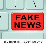 fake news misleading reporting... | Shutterstock . vector #1069438043