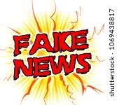 fake news cartoon message and... | Shutterstock . vector #1069438817