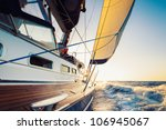 sailing into the sunset | Shutterstock . vector #106945067