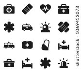 flat vector icon set   first... | Shutterstock .eps vector #1069453073