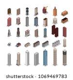 vector isometric hospital ... | Shutterstock .eps vector #1069469783