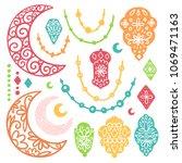 ramadan kareem theme. vector... | Shutterstock .eps vector #1069471163