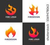 fire flame logo set | Shutterstock .eps vector #1069478063