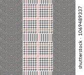 elegant english tweed tecture.... | Shutterstock .eps vector #1069489337