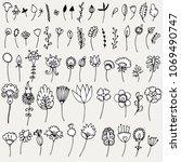 set of simple doodles of...   Shutterstock . vector #1069490747