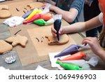 culinary class for children  ... | Shutterstock . vector #1069496903