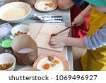 culinary class for children and ... | Shutterstock . vector #1069496927