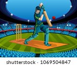 concept of sportsman playing... | Shutterstock .eps vector #1069504847