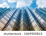 facade of modern office building | Shutterstock . vector #1069505813