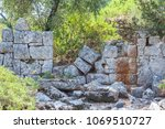 ancient stone wall on the...   Shutterstock . vector #1069510727