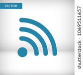 wi fi icon vector illustration. ...
