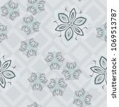 seamless editable pattern.... | Shutterstock .eps vector #1069513787