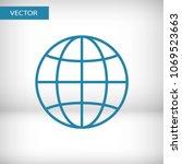 globe icon vector illustration. ...