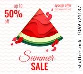 summer sale template banner.... | Shutterstock .eps vector #1069524137