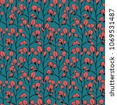 floral seamless pattern. plants ... | Shutterstock .eps vector #1069531487