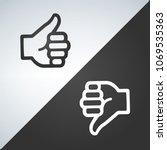 like and dislike icon  flat... | Shutterstock .eps vector #1069535363