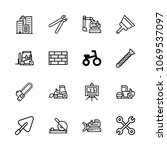 icons architecture with tool ... | Shutterstock .eps vector #1069537097