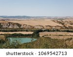 summer landscape of tuscany at... | Shutterstock . vector #1069542713
