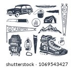 vintage hand drawn adventure... | Shutterstock .eps vector #1069543427
