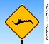 grand bahama map road sign.... | Shutterstock .eps vector #1069546967