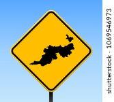 guana island map road sign.... | Shutterstock .eps vector #1069546973