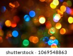 blurred colorful lights... | Shutterstock . vector #1069548863