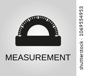 measurement icon. measurement... | Shutterstock .eps vector #1069554953