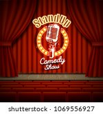 comedy show theater scene with... | Shutterstock .eps vector #1069556927