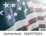 american flag for memorial day  ... | Shutterstock . vector #1069579253