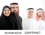 Arabic people on white - stock photo
