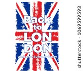 british flag illustration with... | Shutterstock .eps vector #1069599593