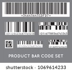 bar code icon. set of modern... | Shutterstock .eps vector #1069614233