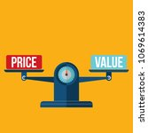 price and value balance  | Shutterstock .eps vector #1069614383