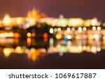 night view of famous european... | Shutterstock . vector #1069617887