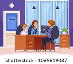 children parents parenthood...   Shutterstock .eps vector #1069619087