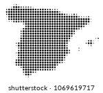 spain map halftone vector... | Shutterstock .eps vector #1069619717
