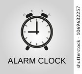 alarm clock icon. alarm clock... | Shutterstock .eps vector #1069632257